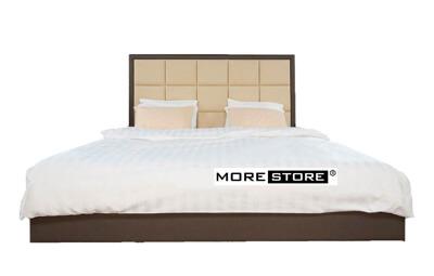 Ảnh của Giường ngủ bọc da đầu giường kẻ ô vuông