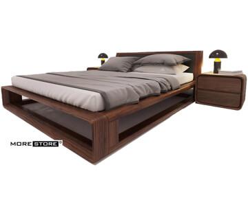 Picture of Giường ngủ gỗ óc chó cách điệu