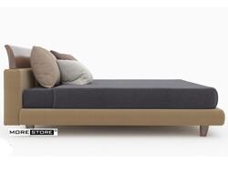 Picture of Giường ngủ bọc vải đầu giường cong