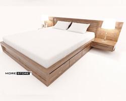 Ảnh của Giường ngủ gỗ công nghiệp venner óc chó