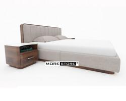 Picture of Giường ngủ bọc nỉ khung viền gỗ