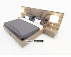 Ảnh của Giường ngủ đầu giường nẹp inox mạ vàng