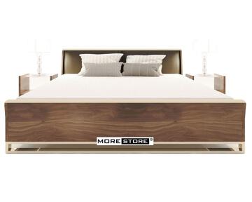 Picture of Giường ngủ gỗ  đầu giường bọc da