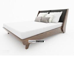 Picture of Giường ngủ gỗ óc chó chân vát