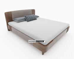 Picture of Giường ngủ gỗ tần bì hiện đại phối nỉ sang trọng
