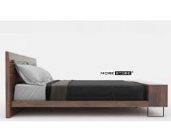 Picture of Giường ngủ gỗ veneer đuôi giường kết hợp kệ decor