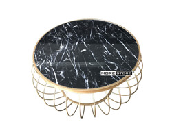 Picture of Bàn trà mặt đá cao cấp chân thép mạ vàng
