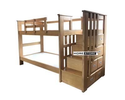 Ảnh của Giường 2 tầng gỗ tần bì cao cấp có ngăn kéo