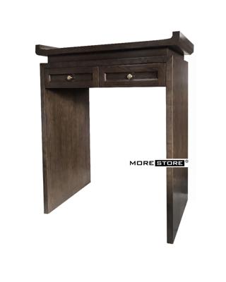 Picture of Tủ thờ gỗ sồi màu nâu xám 2 ngăn kéo