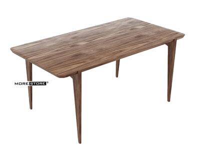 Ảnh của Bàn gỗ hiện đại tối ghép thanh tối giản