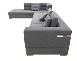 Picture of Sofa chữ L bọc vải chân inox không dỉ