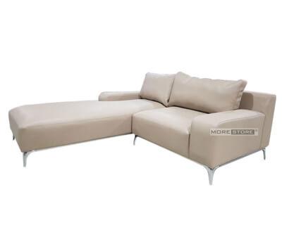 Picture of Sofa hiện đại chữ L bọc da chân thép