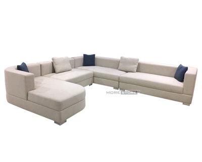 Picture of Sofa vải chữ U hiện đại màu trắng
