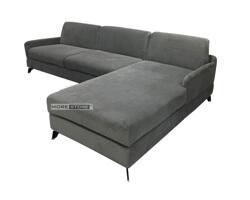 Picture of Sofa hiện đại chữ L bọc nỉ màu xám bạc