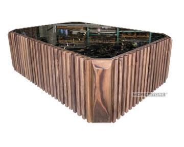 Picture of Bàn trà gỗ óc chó mặt đá siêu sang MHB-00005