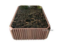 Ảnh của Bàn trà gỗ óc chó mặt đá siêu sang MHB-00005