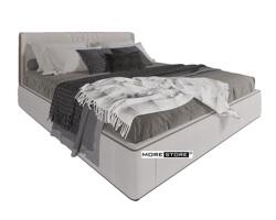 Picture of Giường ngủ bọc nỉ màu xám phong cách hiện đại