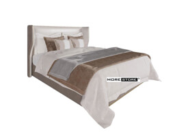 Picture of Giường ngủ đẹp đầu giường bọc da cách điệu nhẹ nhàng