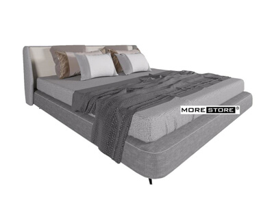 Ảnh của Mẫu giường ngủ hiện đại bọc vải được thiết kế ấn tượng và đẹp mắt
