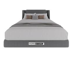Picture of Mẫu giường ngủ bọc nỉ màu xám lông chuột hiện đại tinh tế