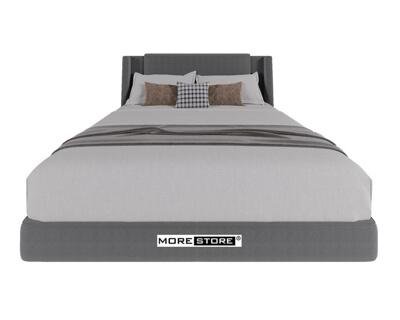 Ảnh của Mẫu giường ngủ bọc nỉ màu xám lông chuột hiện đại tinh tế