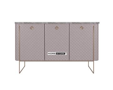 Picture of Kệ tủ đơn giản với khung inox mạ vàng kết hợp mặt đá cao cấp