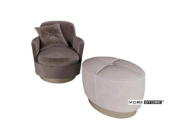 Picture of Ghế sofa đơn bọc nỉ nhung cao cấp đầy tinh tế