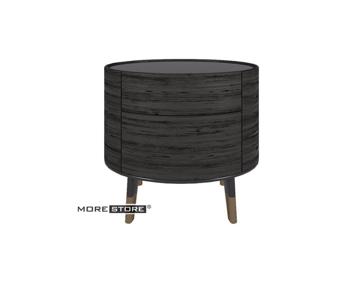 Picture of Mẫu tủ đầu giường gỗ kiểu dáng tròn elip 2 ngăn kéo