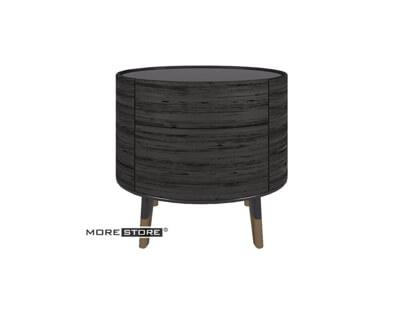 Ảnh của Mẫu tủ đầu giường gỗ kiểu dáng tròn elip 2 ngăn kéo