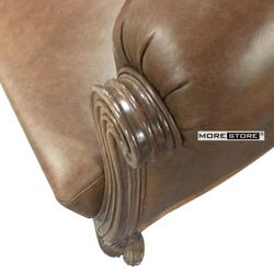 Picture of Mẫu sofa gỗ óc chó bọc da cao cấp (Bộ gồm 2 đơn - 1 văng)
