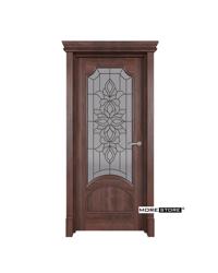 Picture of Mẫu cửa gỗ kính cường lực hoa đồng cao cấp