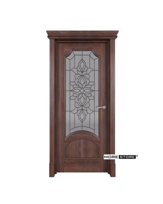 Ảnh của Mẫu cửa gỗ kính cường lực hoa đồng cao cấp