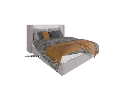 Picture of Mẫu giường ngủ bọc nỉ màu xám tinh tế