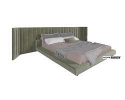 Picture of Giường bọc nỉ hiện đại đẹp mắt với đầu giường độc đáo