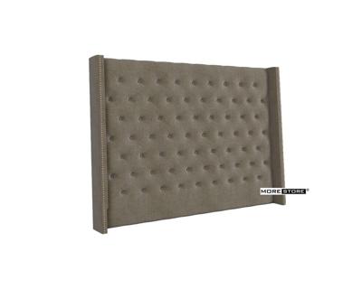 Picture of Mẫu đầu giường bọc nỉ màu xám hiện đại