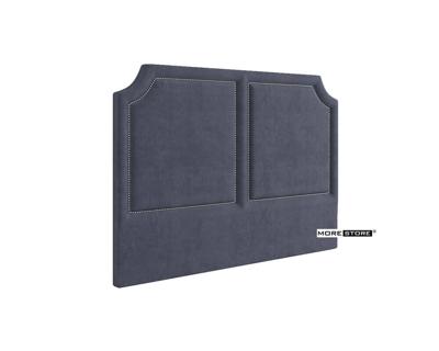 Picture of Đầu giường khung gỗ công nghiệp bọc đệm nỉ xanh than sang trọng