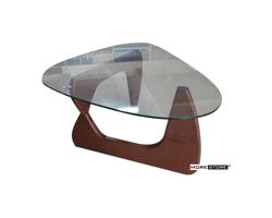 Picture of Mẫu bàn trà chân gỗ mặt kính hiện đại