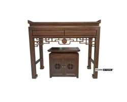 Picture of Bộ tủ thờ gỗ sồi  nhập khẩu phun sơn cao cấp