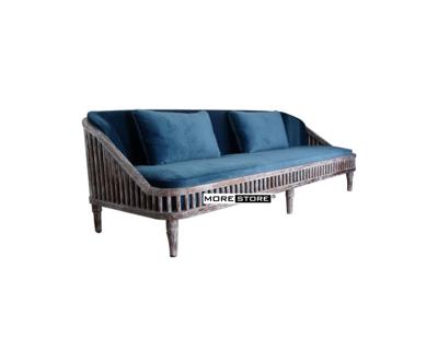 Picture of Ghế sofa gỗ có đệm nỉ nhung ấn tượng và sang trọng