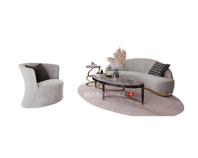Picture of Bộ sofa bọc nỉ hiện đại kết hợp bàn trà mặt đá sang trọng