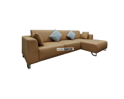 Picture of Mẫu sofa phòng khách bọc da nâu hiện đại, trẻ trung