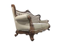 Picture of Mẫu sofa tân cổ điển gỗ óc chó bọc da cao cấp
