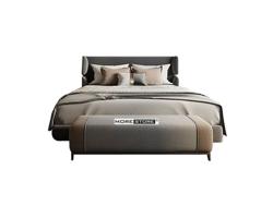 Picture of Giường ngủ hiện đại bọc nỉ xám sang trọng và độc đáo