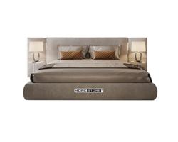 Picture of Giường ngủ bọc nỉ nhung màu xám thanh lịch và tinh tế