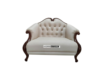 Picture of Ghế sofa đơn tân cổ điển bọc da