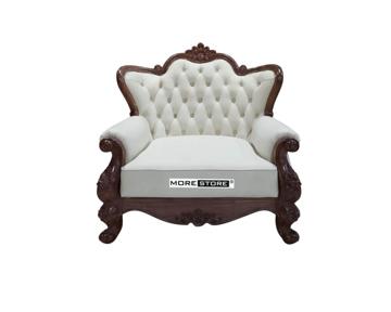 Picture of Ghế sofa đơn cổ điển bọc da 02