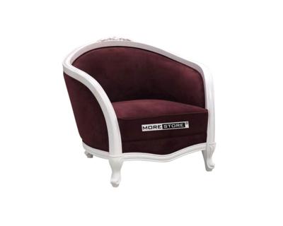 Picture of Ghế sofa nỉ nhung đỏ tân cổ điển
