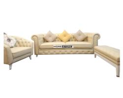 Picture of Sofa bộ tân cổ điển màu vàng (bộ 3 món)