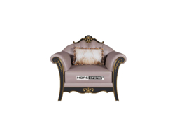 Picture of Ghế sofa đơn tân cổ điển bọc da nhập khẩu cao cấp