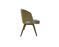 Picture of Mẫu ghế hiện đại bọc da chân gỗ cao cấp